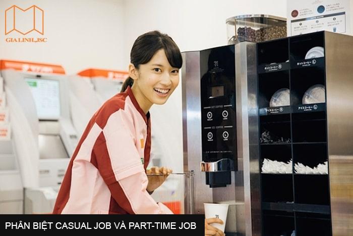 Phân biệt casual job và part-time job