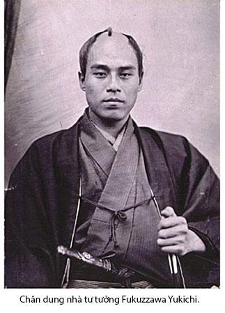 Chân dung nhà tư tưởng Fukuzzawa Yukichi.