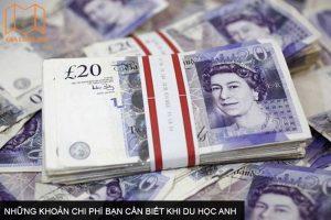 Những khoản chi phí bạn cần biết khi du học Anh