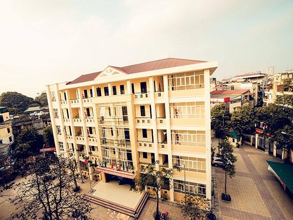 Trường THPT Thăng Long từ trên cao nhìn xuống