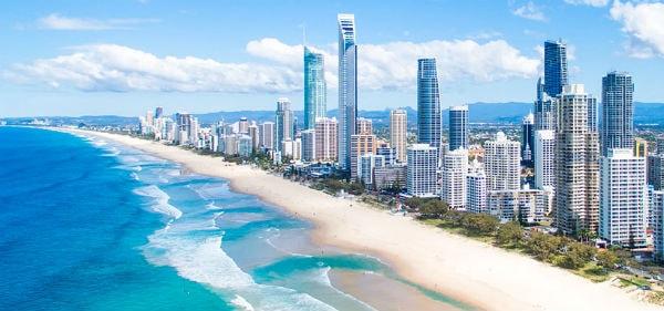 Thành phố Gold Coast với nhiều bờ biển đẹp
